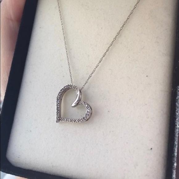 5343da086 Kay Jewelers Jewelry | Diamond Heart Necklace | Poshmark